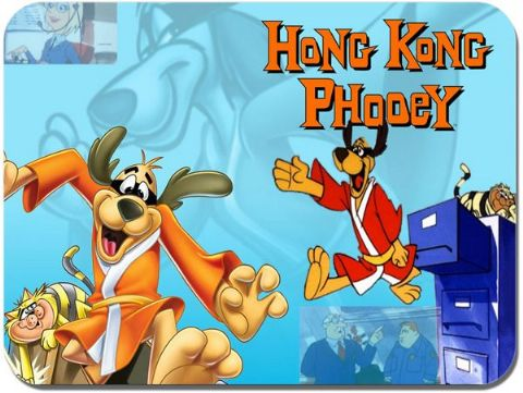 Hong kong Phooey Mouse Mat. Cartoon Mouse Pad
